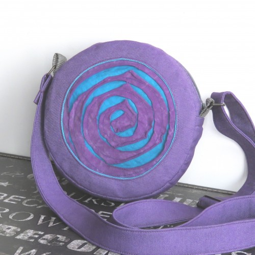 torebka, mała, na ramię z tkaniny handmade