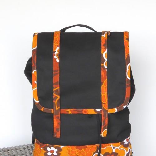 Plecak czrny, pomarańczowy, Arampi