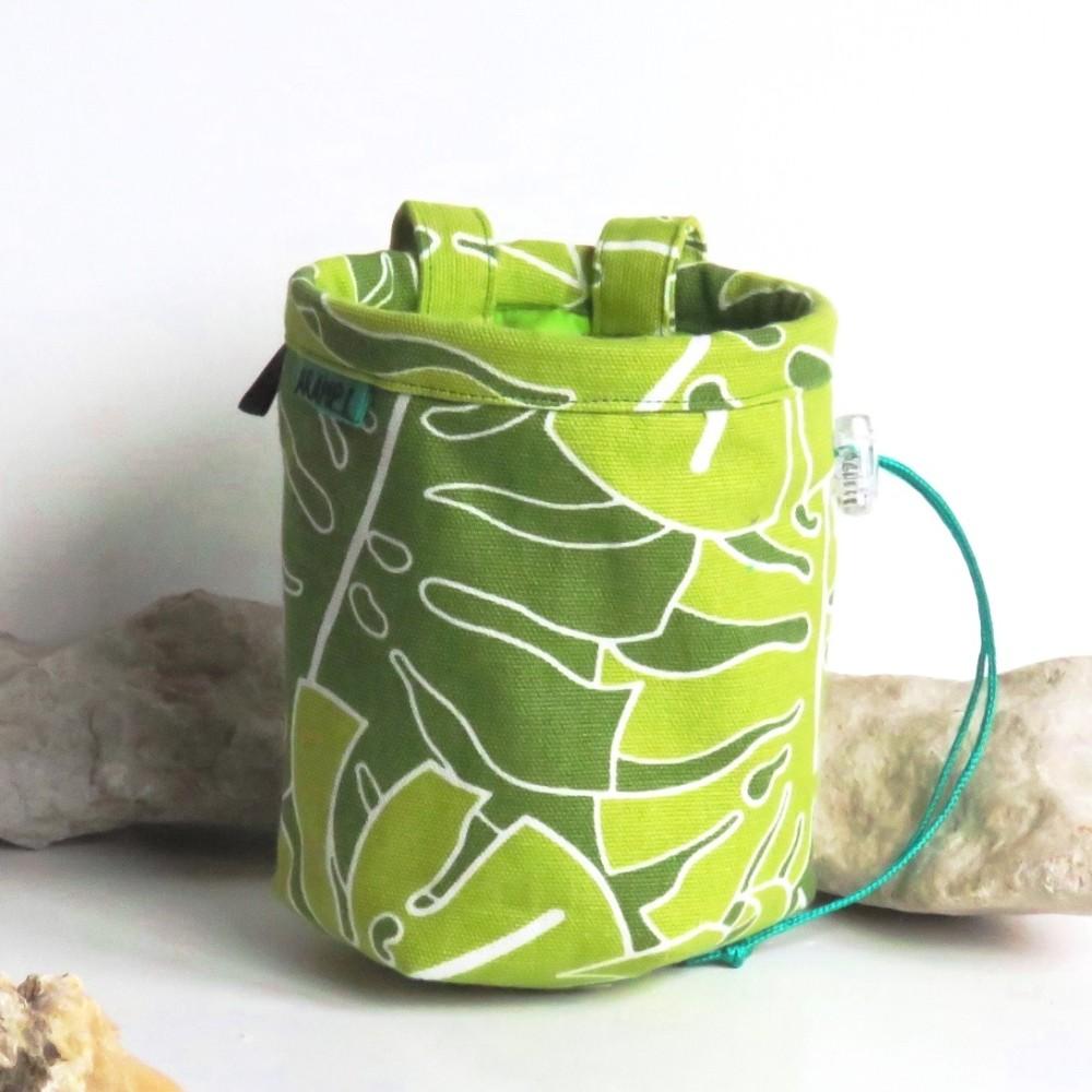 woreczek na magnezję w zielone liście4